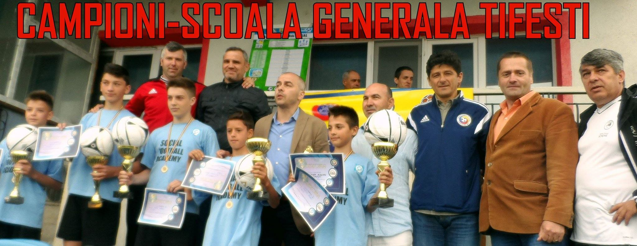 Gloriile fotbalului romanesc au premiat campionii Vrancei